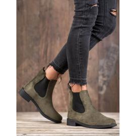 Ideal Shoes Casualowe Sztyblety zielone 2