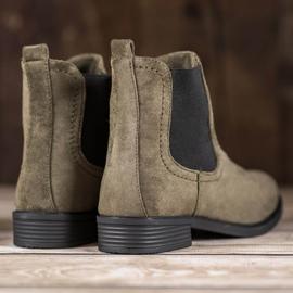 Ideal Shoes Casualowe Sztyblety zielone 1