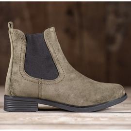 Ideal Shoes Casualowe Sztyblety zielone 7