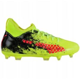 Buty piłkarskie Puma Future 18.3 Fg Ag Jr 104332 01 zielone wielokolorowe 2