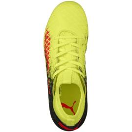 Buty piłkarskie Puma Future 18.3 Fg Ag Jr 104332 01 zielone wielokolorowe 5