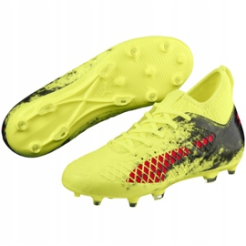 Buty piłkarskie Puma Future 18.3 Fg Ag Jr 104332 01 zielone wielokolorowe 8