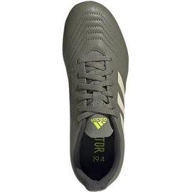 Buty piłkarskie adidas Predator 19.4 FxG Jr EF8221 wielokolorowe szare 1