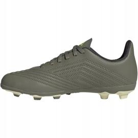 Buty piłkarskie adidas Predator 19.4 FxG Jr EF8221 wielokolorowe szare 2