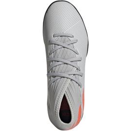 Buty piłkarskie adidas Nemeziz 19.3 Tf Jr EF8303 szare wielokolorowe 1