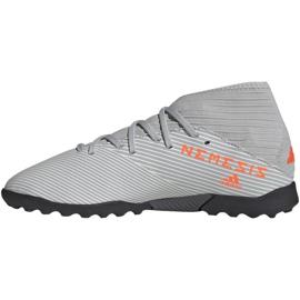 Buty piłkarskie adidas Nemeziz 19.3 Tf Jr EF8303 szare wielokolorowe 2