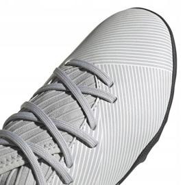Buty piłkarskie adidas Nemeziz 19.3 Tf Jr EF8303 szare wielokolorowe 3