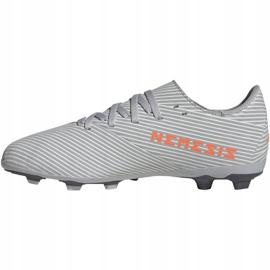 Buty piłkarskie adidas Nemeziz 19.4 FxG Jr EF8305 wielokolorowe szare 2
