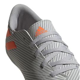 Buty piłkarskie adidas Nemeziz 19.4 FxG Jr EF8305 wielokolorowe szare 3