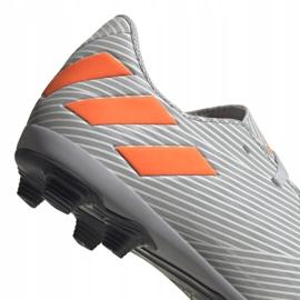 Buty piłkarskie adidas Nemeziz 19.4 FxG Jr EF8305 wielokolorowe szare 4