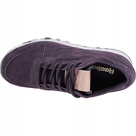 Buty Reebok Classic Leather Shimmer W BD1520 fioletowe 2