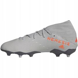 Buty piłkarskie adidas Nemeziz 19.3 Fg M EF8287 szare szare 2
