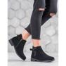 Ideal Shoes Zamszowe Botki czarne 5