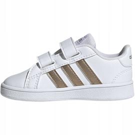 Buty adidas Grand Court I Jr EF0116 białe 2