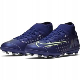 Buty piłkarskie Nike Mercurial Superfly 7 Club Mds FG/MG Jr BQ5418 401 niebieskie granatowe 1