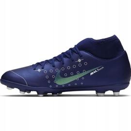 Buty piłkarskie Nike Mercurial Superfly 7 Club Mds FG/MG Jr BQ5418 401 niebieskie granatowe 2