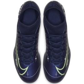 Buty piłkarskie Nike Mercurial Superfly 7 Club Mds FG/MG Jr BQ5418 401 niebieskie granatowe 3