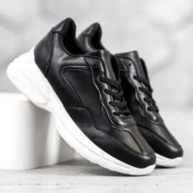 SHELOVET Czarne Sneakersy 2