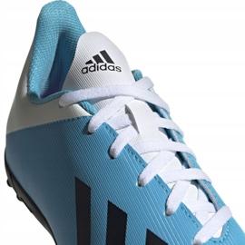 Buty piłkarskie adidas X 19.4 Tf Jr F35347 niebieskie wielokolorowe 2