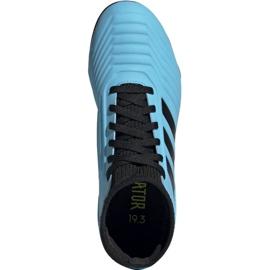 Buty piłkarskie adidas Predator 19.3 Fg Jr G25796 wielokolorowe niebieskie 1