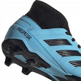Buty piłkarskie adidas Predator 19.3 Fg Jr G25796 wielokolorowe niebieskie 3