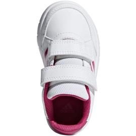Buty adidas Altasport Cf I Jr D96846 białe fioletowe 1