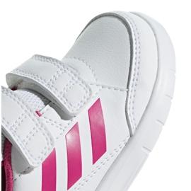 Buty adidas Altasport Cf I Jr D96846 białe fioletowe 3