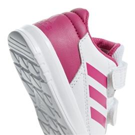 Buty adidas Altasport Cf I Jr D96846 białe fioletowe 4
