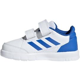 Buty adidas AltaSport Cf I Jr D96844 białe niebieskie 2
