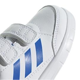 Buty adidas AltaSport Cf I Jr D96844 białe niebieskie 3