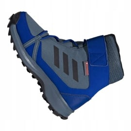 Buty adidas Terrex Snow Cf Cp Cw Jr G26579 niebieskie wielokolorowe 1