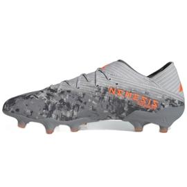 Buty piłkarskie adidas Nemeziz 19.1 Fg M EF8281 szare czerwone 2