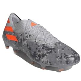 Buty piłkarskie adidas Nemeziz 19.1 Fg M EF8281 szare czerwone 3