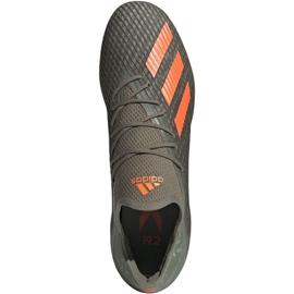 Buty piłkarskie adidas X 19.2 Fg M EF8364 szare zielony 1