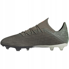 Buty piłkarskie adidas X 19.2 Fg M EF8364 szare zielony 2