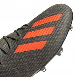 Buty piłkarskie adidas X 19.2 Fg M EF8364 szare zielony 3