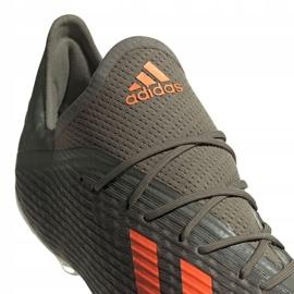 Buty piłkarskie adidas X 19.2 Fg M EF8364 szare zielony 4