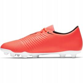 Buty piłkarskie Nike Phantom Venom Club Fg M AO0577 810 pomarańczowe biały, pomarańczowy 2