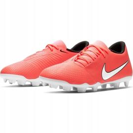 Buty piłkarskie Nike Phantom Venom Club Fg M AO0577 810 pomarańczowe biały, pomarańczowy 3