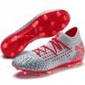 Buty piłkarskie Puma Future 4.1 Netfit Fg Ag M 105579 01 czerwony, szary/srebrny szare 3