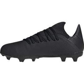 Buty piłkarskie adidas X 19.3 Fg Jr F35364 czarny czarne 1