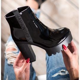 Seastar Lakierowane Botki Fashion czarne 6