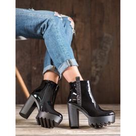 Seastar Lakierowane Botki Fashion czarne 5