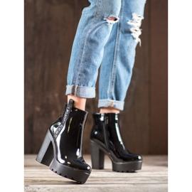 Seastar Lakierowane Botki Fashion czarne 4