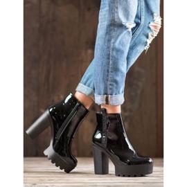 Seastar Lakierowane Botki Fashion czarne 3