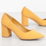 Seastar Eleganckie Czółenka żółte 3