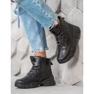SHELOVET Botki Na Platformie Fashion czarne 6