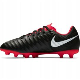 Buty piłkarskie Nike Tiempo Legend 7 Club Mg Jr AO2300 006 czarne wielokolorowe 1