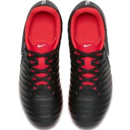 Buty piłkarskie Nike Tiempo Legend 7 Club Mg Jr AO2300 006 czarne wielokolorowe 3