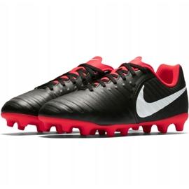 Buty piłkarskie Nike Tiempo Legend 7 Club Mg Jr AO2300 006 czarne wielokolorowe 4